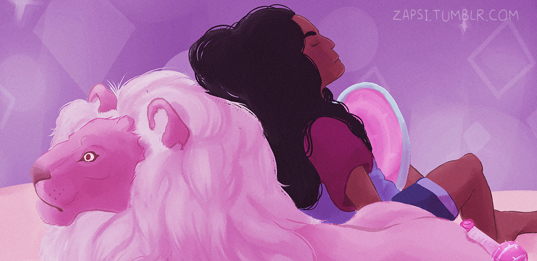 Stevonnie and Lion