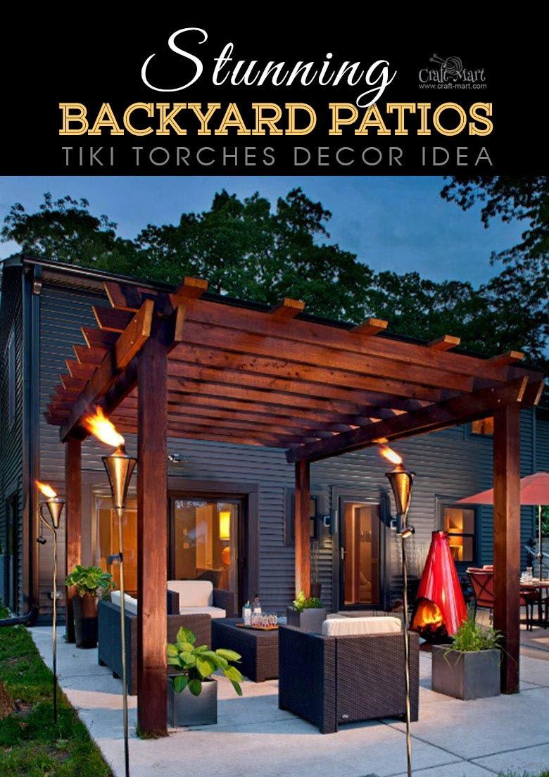 Stunning Backyard Patio Designs and Lighting Ideas - Craft ...
