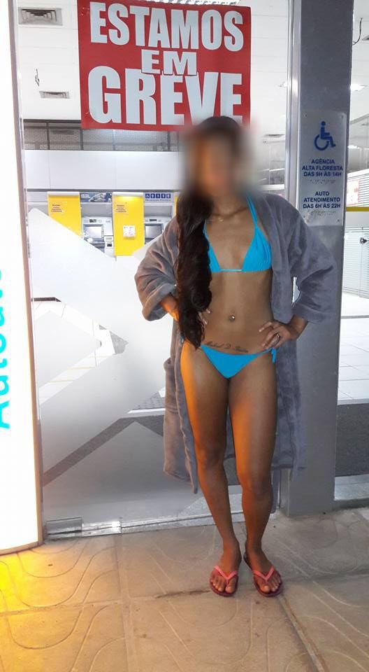 Jovem mato-grossense de 17 anos causa polêmica com vídeos e fotos pelada em pontos da cidade;  fotos
