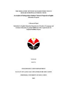 Cover Proposal Skripsi Upi Ide Judul Skripsi Universitas