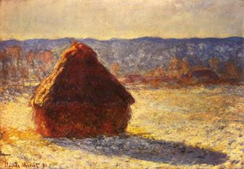 Claude Monet - Haystack Morning Snow Effect (1891)