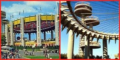 NY Pavilion, 1964 (L) and Present day (R)
