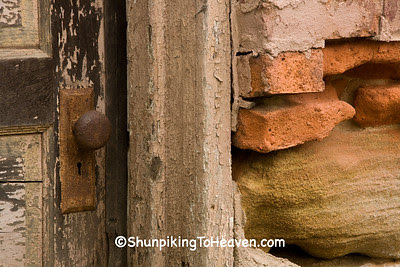 Colors and Textures of Doorway of Historic Home, Belmont County, Ohio