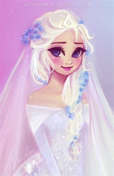 Elsa's Wedding by MitsouParker.deviantart.com on