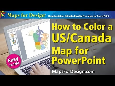Maps For Design Editable Clip Art PowerPoint Maps USA And - Free editable map of us and canada