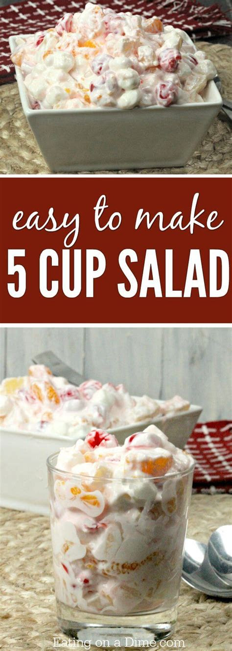 easy  cup salad recipe eating   dime fruit salad