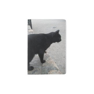 Passport Holder with Beautiful Stray Black Cat