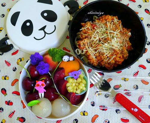 Bolognese Panda Bento by sherimiya ♥