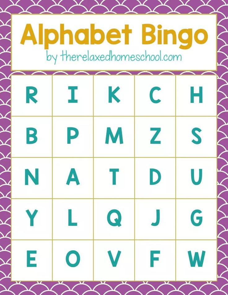 1000+ ideas about Alphabet Bingo on Pinterest | Preschool reading ...