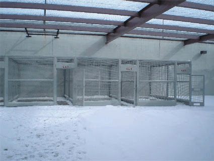 "Outdoor ""recreation cages"" at ADX."