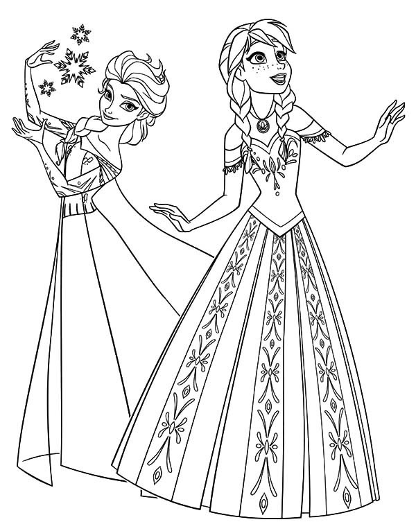 Anna And Elsa Drawing At Getdrawingscom Free For Personal Use