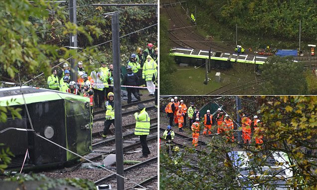Croydon tram derailment sees eight feared dead and more than 50 in hospital