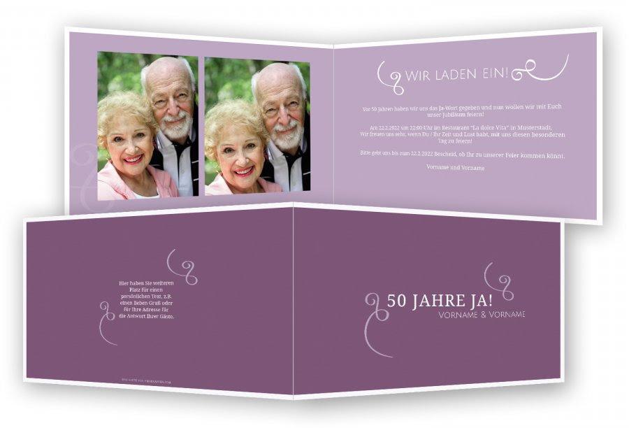 Hochzeit Blog Einladungen Zur Goldhochzeit