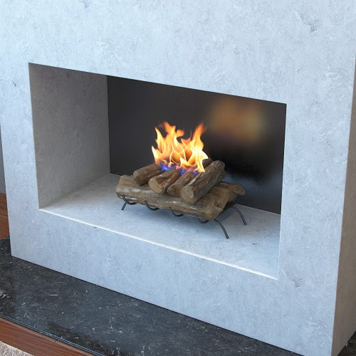 18 Inch Convert To Ethanol Fireplace Log Set With Burner Insert From