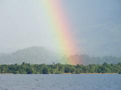 Rainbow over El Golfete - DSCF2611