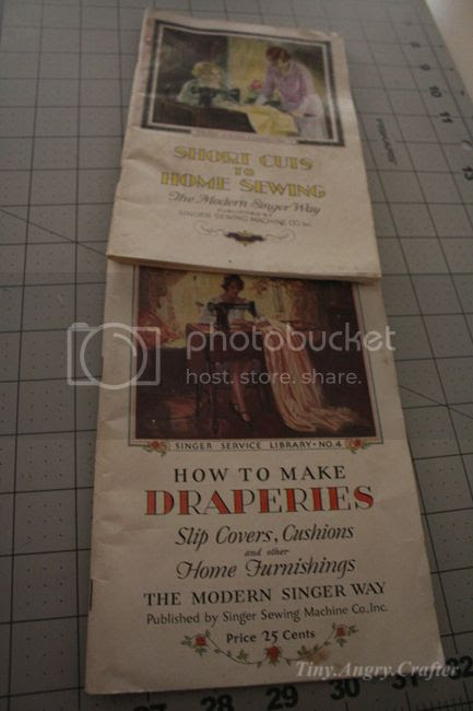 TinyAngryCrafts SDVFM Singer sewing pamphlets