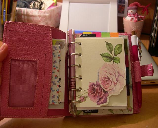 Pretty pink Filofax