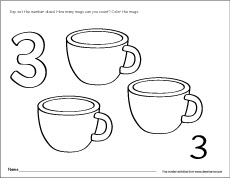 numbers for kids 3 1