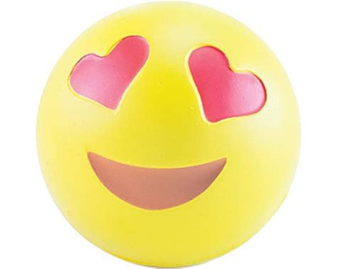 Promotional Love Emoji Stress Balls Printed with your Logo