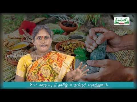8th Tamil தமிழர் மருத்துவம் இயல் 3 பகுதி 3  Kalvi TV