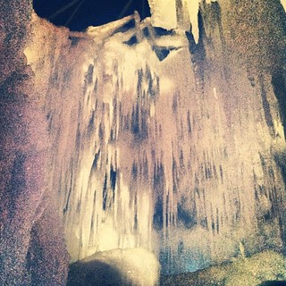 Ice Castle... And yes, it's COLD! #icecastle #icicles #newhampshire #winterwonderland #newengland #brrrr