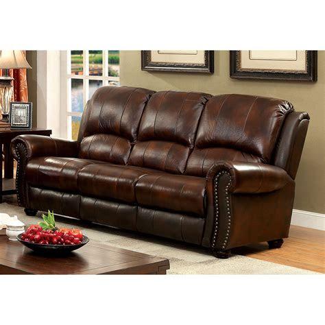 furniture  america tads top grain leather match sofa