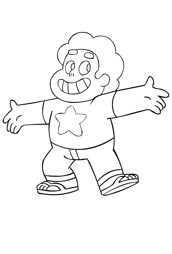 Drawing Of Steven Universe Coloring Page