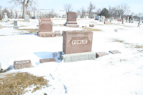 Fowlie tombstones in the snow
