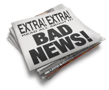 Image result for bad news images