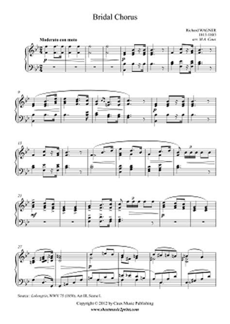 Here Comes the Bride Sheet Music