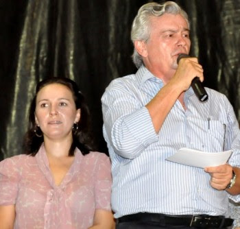 Nina Melo e o pai Arnaldo Melo