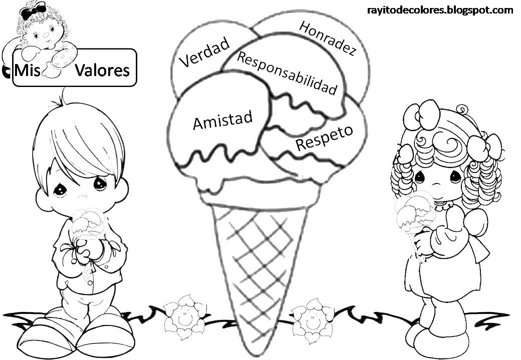 Dibujos Para Colorear De Valores Morales Los Valores Y Sus Dibujos
