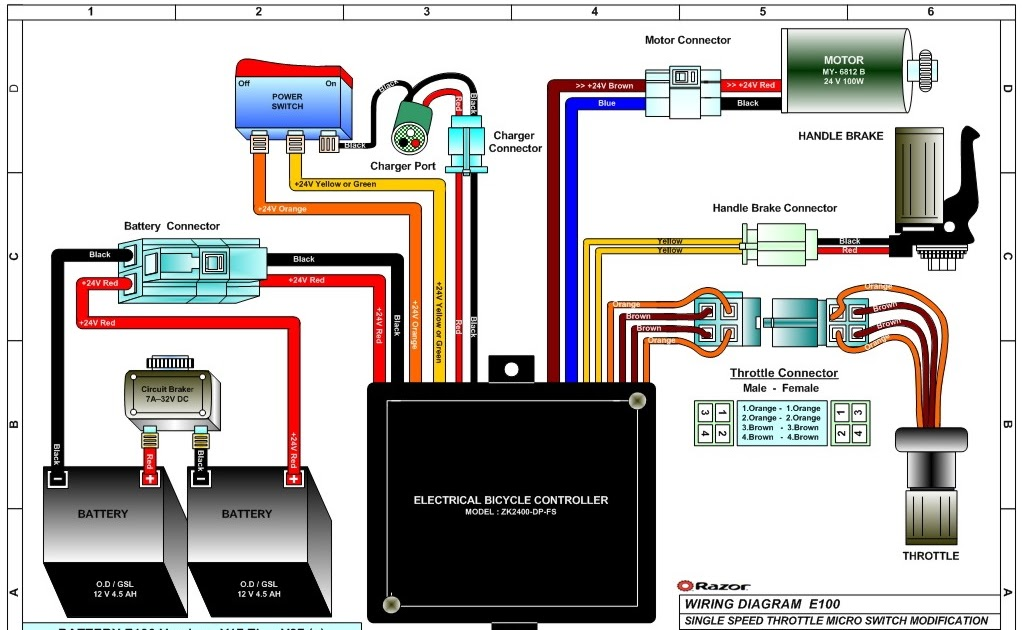 24v Razor E100 Wiring Diagram