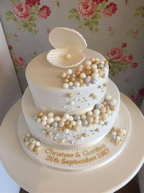 Pearl anniversary cake   Kathys cakes in 2019   30th