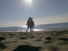 Paseo por la playa...