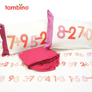 Tambino math by osmosis twin bed sheet set for girls - Bed & Bath ...