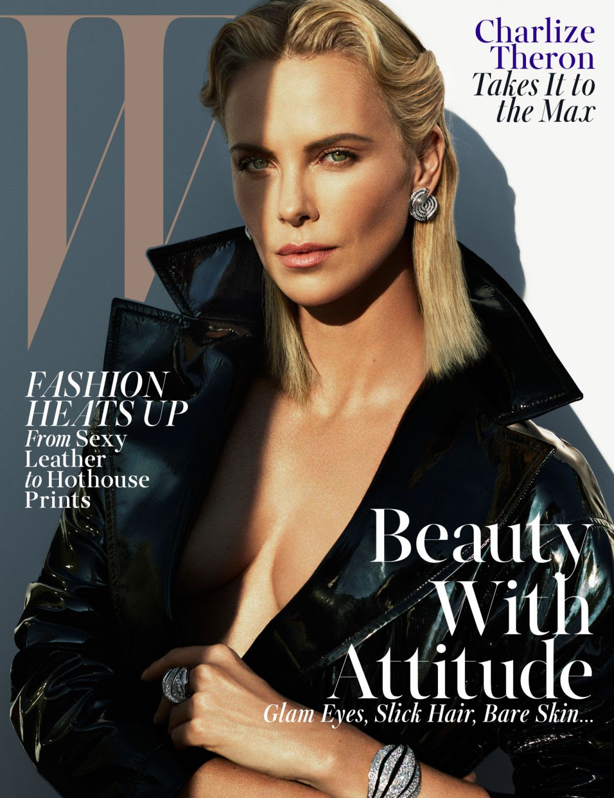CHARLIZE THERON in W Magazine, May 2015 Issue