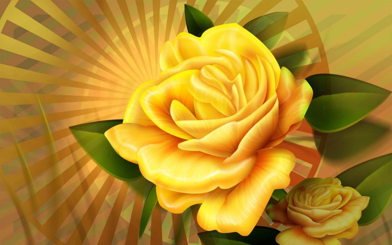 Dibujo De Una Rosa Amarilla Imágenes Y Fotos