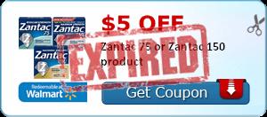 $5.00 off Zantac 75 or Zantac 150 product