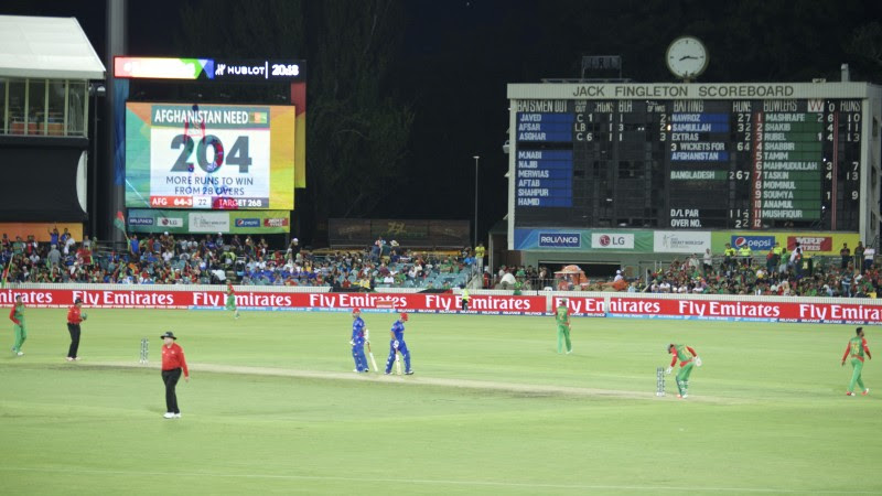 Image from the Bangladesh Afghanistan Match from Manuka, Oval. Image By Rezwan
