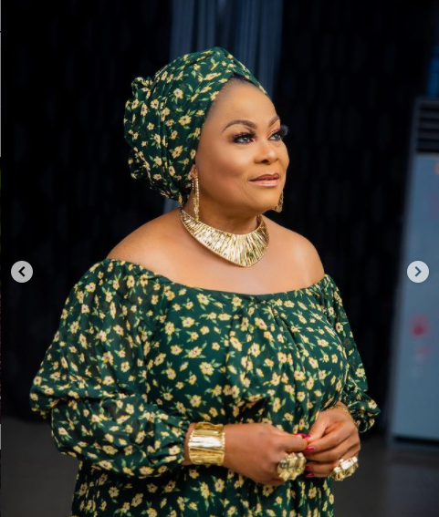 Nollywood actress, Sola Sobowale releases lovely photos to celebrate her birthday