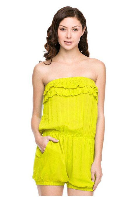 G2 Chic Women's Strapless Solid Romper One Piece at Amazon Women's Clothing store