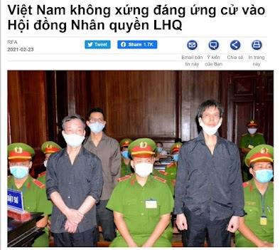 Vì sao đám rận chủ lại phản đối việc Việt Nam tham gia ứng cử vị trí thành viên Hội đồng Nhân quyền Liên Hiệp quốc nhiệm kỳ 2021-2023