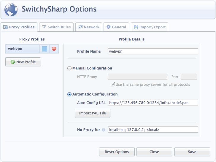 SwitchySharp 设置