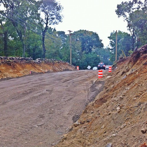 our nice country road has been terraformed - sad but necessary unfortunately