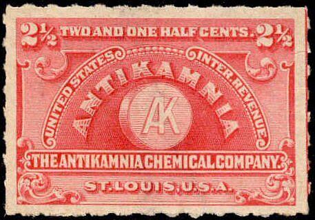 Antikamnia chemical company stamp