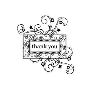 Inkadinkado Thank You Frame Clear Stamp