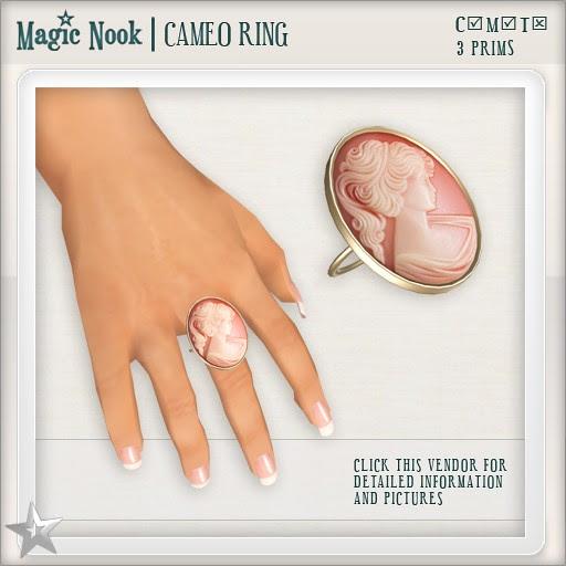 [MAGIC NOOK] Cameo Ring