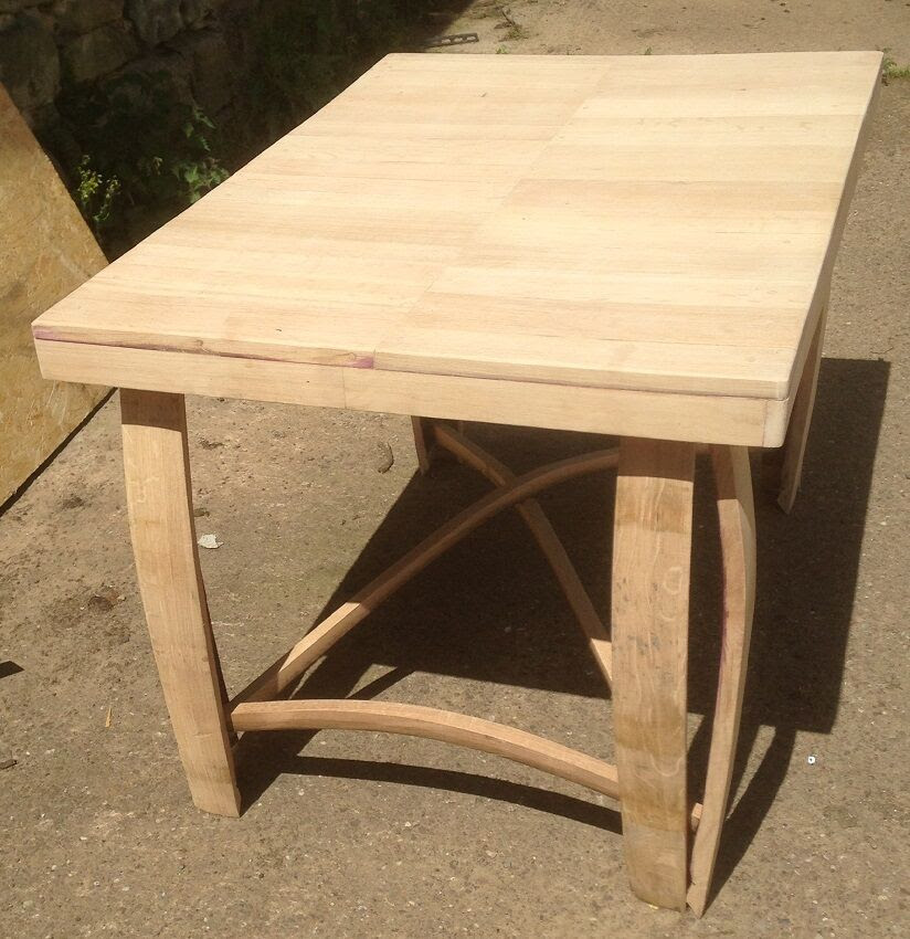Recycled Solid Oak Whisky Barrel Staves Coffee Table | eBay