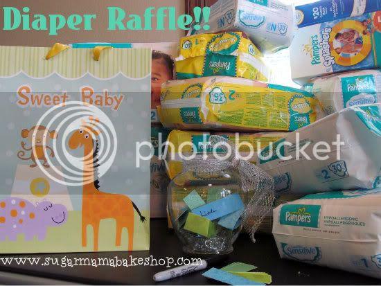 Baby shower diaper raffle.